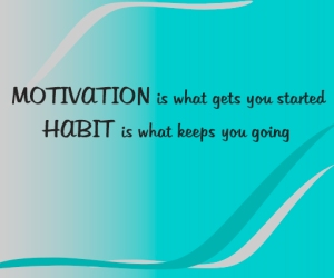Motivation is what gets you started.Habit is what keeps you going.